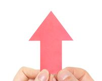 Red arrow pointing up Stock Photo