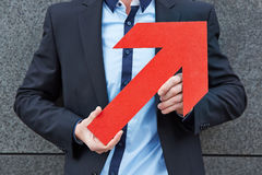 Red arrow pointing up Stock Photos
