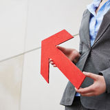 Red arrow pointing up Royalty Free Stock Images