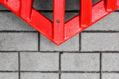 Red arrow on the road Royalty Free Stock Photos