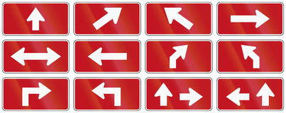 Red Arrow Set From Canada Stock Photos