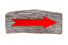 Free Red Arrow Sign Wood On White Background. Stock Photo - 85393050