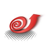 Red arrow snail pattern Stock Image