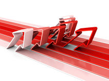 Red arrow success leader pise up and forward Stock Photography
