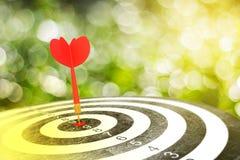 Red arrow on target dart Royalty Free Stock Photos