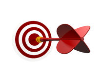 Red Arrow with Target Royalty Free Stock Photo