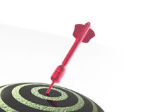 Red arrow on the target Stock Image
