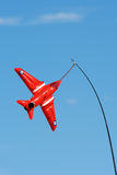 Red arrow toy plane. Red arrow toy blow up plane Royalty Free Stock Photography