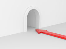 Red arrow in tunnel Royalty Free Stock Image