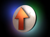Red arrow up stock illustration