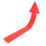 Red arrow up. Concept of success, growth. Stock Photos