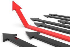 Red arrow up. Concept of success, growth. Computer generated image Stock Images