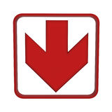 Red arrow up or down Royalty Free Stock Images