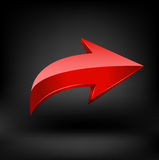 Red arrow. Stock Photography