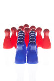Red arrowhead figures Royalty Free Stock Photos