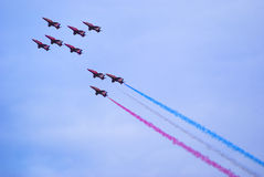 Red Arrows. Back on the display circuit at the Sunderland International Airshow after a 4 year absence Stock Photography