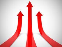 Red arrows  3d. Render illustration Stock Image