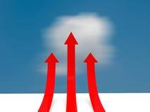 Red arrows 3d render illustration. Red arrows 3d render illustration Stock Photography