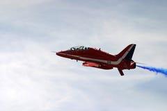 Red arrows aeorobatic display team. Red arrows aeorobatic display at raf fairford Royalty Free Stock Photo