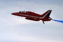 Red arrows aeorobatic display team. Red arrows aeorobatic display at raf fairford Stock Photo