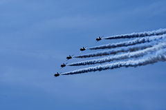 Red Arrows aerobatic display Royalty Free Stock Photo