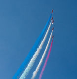 The Red Arrows aerobatic display team Weston Air Festival Weston-s-Mare Somerset Royalty Free Stock Photography