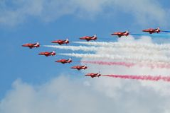 The Red Arrows aerobatic team Royalty Free Stock Photography