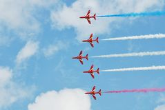 The Red Arrows aerobatic team Stock Photo