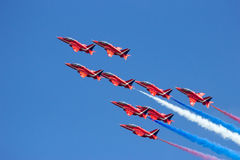 Red Arrows aerobatics team Royalty Free Stock Photography