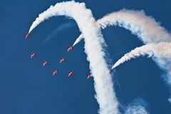 Red Arrows Aeroplane Display Team Fairford Air Show RAF Airport Stock Photo