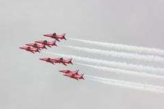 Red Arrows Air Display Stock Photos