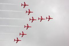 Red Arrows Air Display Stock Photo