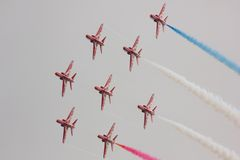 Red Arrows Air Display Stock Image