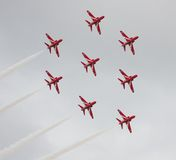 Red Arrows Air Display Royalty Free Stock Image