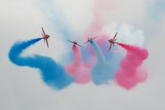 Red Arrows Air Display Royalty Free Stock Images