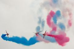 Red Arrows Air Display Royalty Free Stock Photo