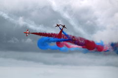 Red Arrows Air Display Team Stock Photo