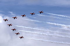 Red Arrows Air Display Team Royalty Free Stock Images