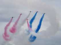 Red Arrows air display team Royalty Free Stock Image