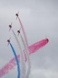 Red Arrows air display team Royalty Free Stock Photography
