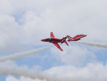 Red Arrows air display team Royalty Free Stock Photos