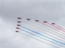 Red Arrows air display team Royalty Free Stock Photo