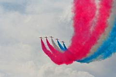 Red Arrows Air Show royalty free stock photos