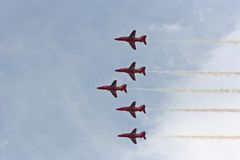 Red Arrows Air Show royalty free stock photo