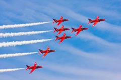 Red Arrows Air Show Stock Photography