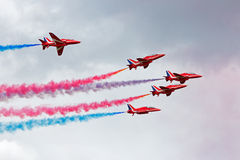 Red Arrows Airshow Royalty Free Stock Photography