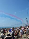 Red Arrows at Bournemouth Stock Photography