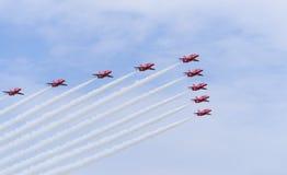Red arrows british stunt team Stock Photos