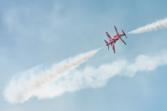 Red Arrows closeup Royalty Free Stock Image