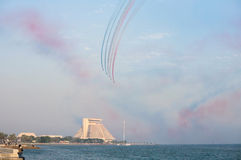 Red Arrows at the Corniche Stock Images